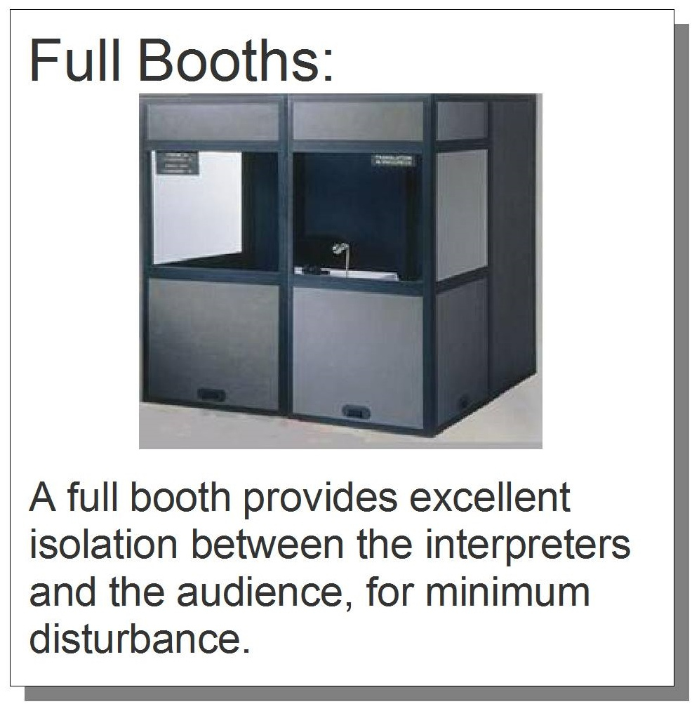 Interpreter's Booth